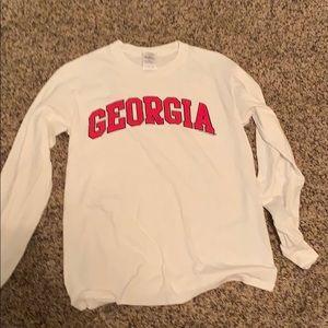 White long sleeve Georgia Bulldogs t shirt